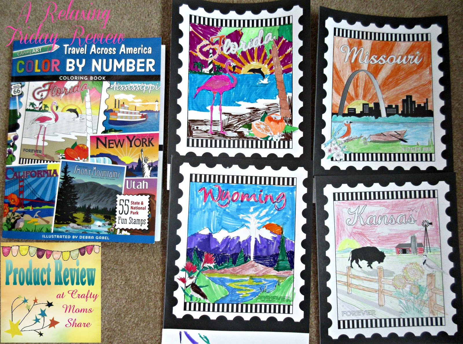 Crafty Moms Share: Travel Across America Color By Number -- a ...