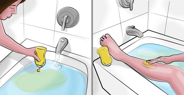 She Puts Mustard In The Bath. When She Touches Her Skin, She Can Not Imagine The Result