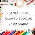 PLANEACION QUINTO BLOQUE, 2° PRIMARIA