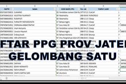 Daftar Peserta PPG 2018 Gelombang Pertama Prov Jateng