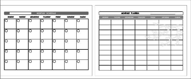 FREE weekly and monthly calendar