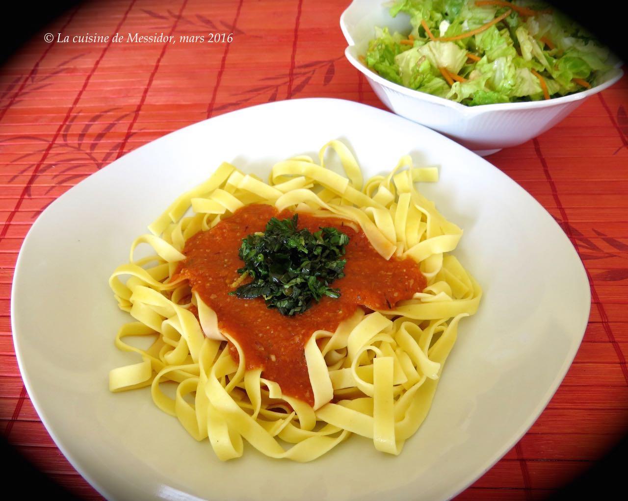 La cuisine de messidor sauce tomate express style romesco for Sauce tomate cuisinee