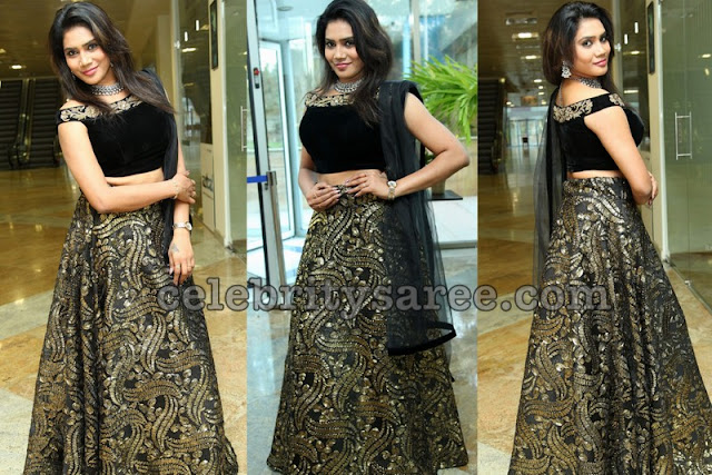 Priya Naidu Lehenga Off Shoulder Blouse