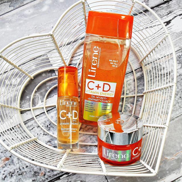 Owoce i witaminy :D| LIRENE | C+Dpro Vitamin Energy | żel myjąco-energetyzujący, skoncentowane StimuSerum, nawilżający krem-żel