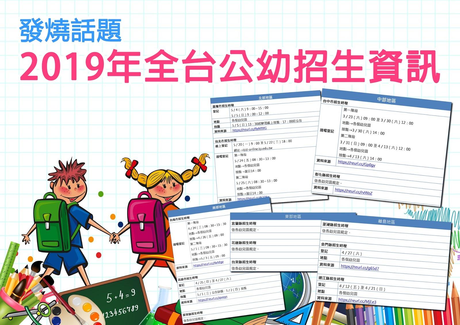 cover.jpg-發燒話題!2019年全台公幼招生資訊