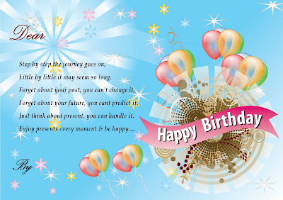 Birthday Greeting Cards With Balloon Multimedia Graphic