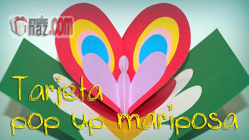 tarjeta pop up mariposa