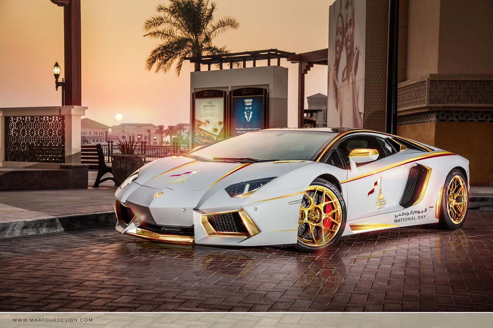 """Golden Cars: Gold Plated Lamborghini Aventador Is """"1 Of 1"""" [w/Video"""