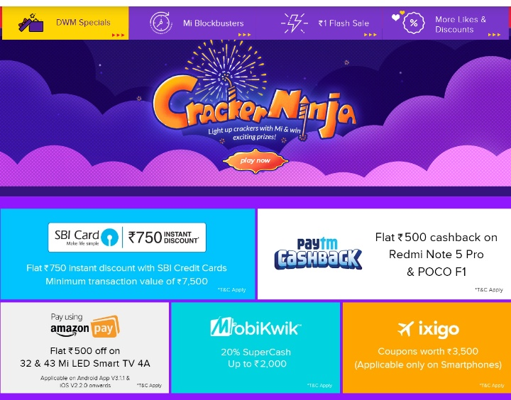 Diwali with Mi : Xiaomi offers a great discounts on their