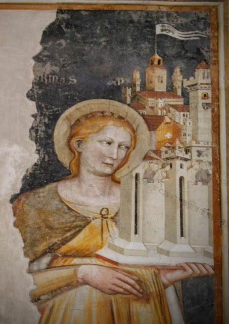 Fresco of Saint Catherine, Santa Caterina, Treviso