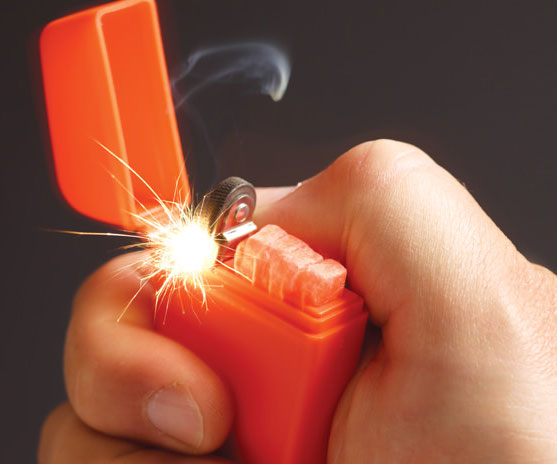 If you're the outdoorsy type who loves venturing into wild, this Zippo emergency fire starter is a must-have. Inside each brightly colored waterproof plastic case you'll find a reliable flint wheel along with four water-resistant waxed tinder sticks.
