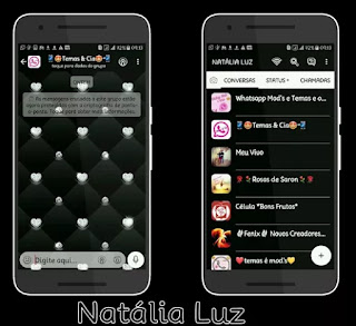 Balck Lover Theme For YOWhatsApp & Fouad WhatsApp By Naty