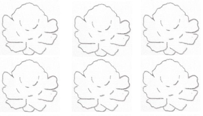 rosas pap risco pintura em tecido