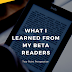 What I Learned From My Beta Readers