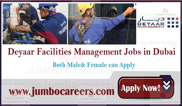 Deyaar Facilities Management LLC Jobs and careers, Available jobs in Dubai,