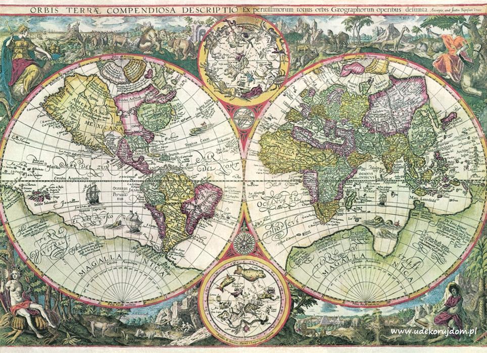 Tapety z mapą świata