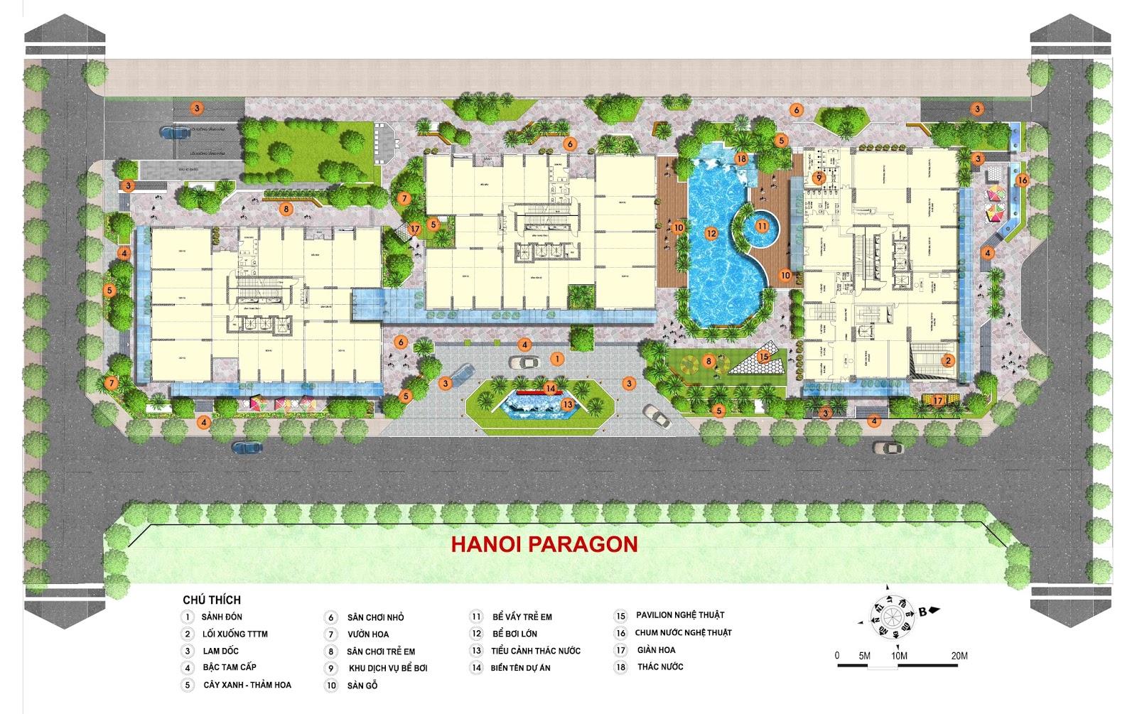 Tiện ích cao cấp của chung cư Hà Nội Paragon