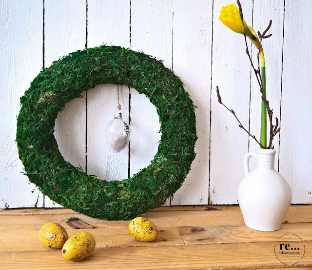 wreath, paper weaving, wicker paper, recycle, upcycle, easter decor, eco, minimalism, wianek, papierowa wiklina, Wielkanoc