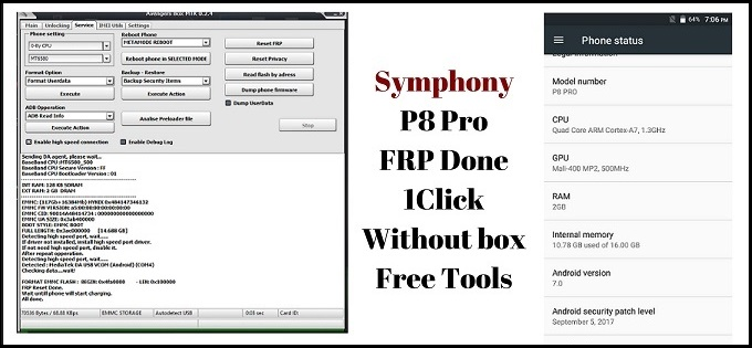 Symphony P8 Pro Frp Remove Done With Free Tool