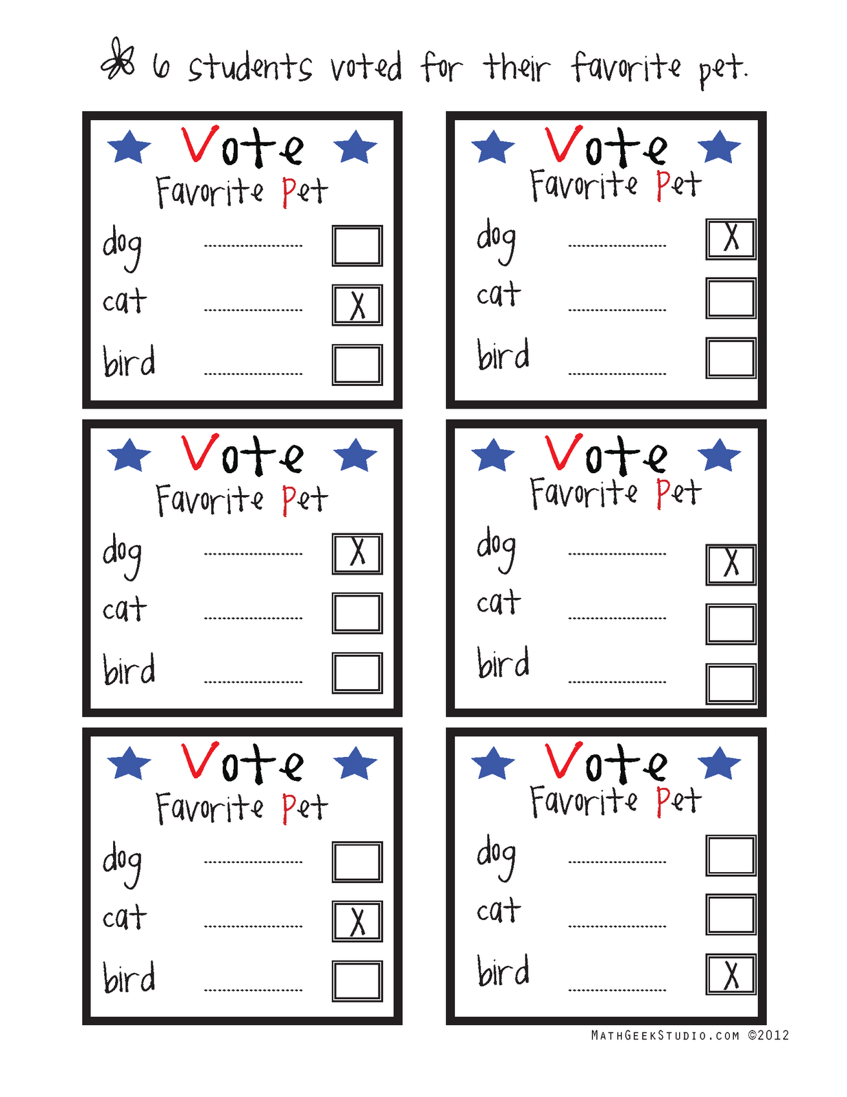 Mathgeekstudio Voting Math Freebie In Honor Of