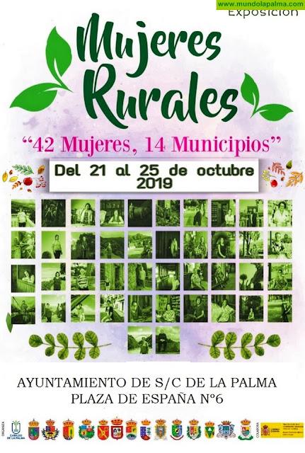 El Ayuntamiento de Santa Cruz de La Palma acoge la exposición 'Mujeres rurales: 42 mujeres, 14 municipios'