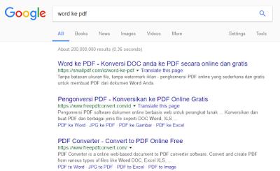 search convert word ke pdf