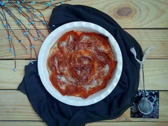Ruffled coconut milk pie Tarta de masa filo y leche de coco. Postre bonito y sencillo Horno Cuca