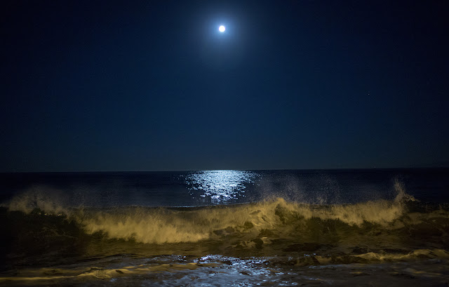 Moon's reflection on Earth's Ocean