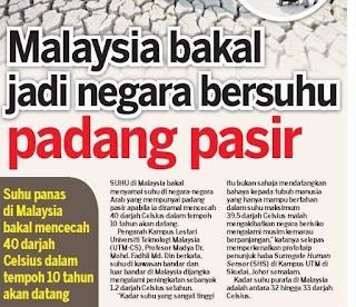 Malaysia Bakal Terima Suhu Padang Pasir