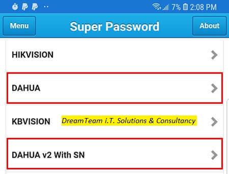 How to reset Dahua DVR admin password - DreamTeam i T