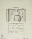 Tombstone with a Bas-Relief and an Inscription from La Valletta by Jean-Pierre-Laurent Houel - Architecture Drawings from Hermitage Museum