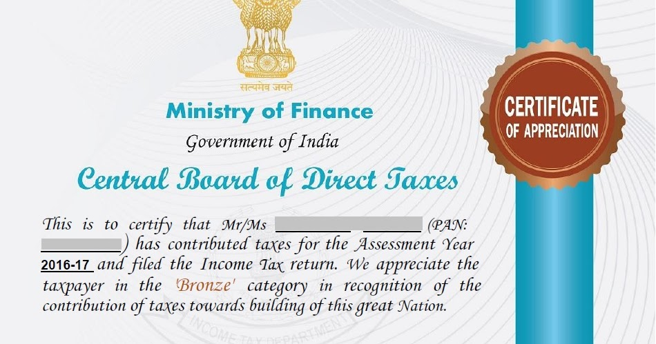 how to get income tax certificate in india