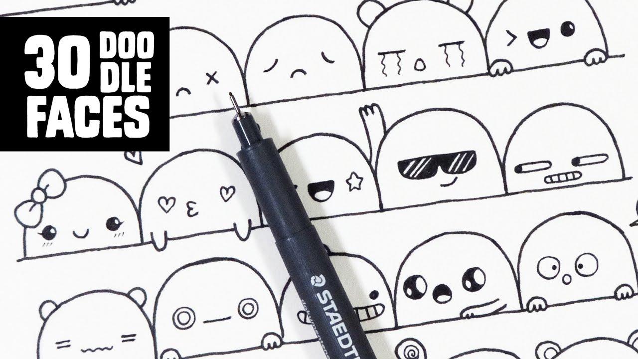 Tutorial menggambar doodle art sederhana untuk Pemula