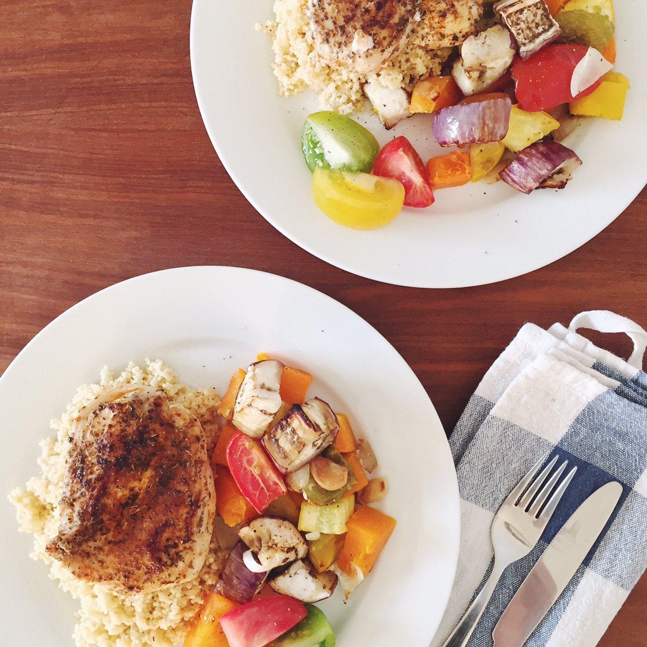 Mediterranean chicken recipe with couscous salad