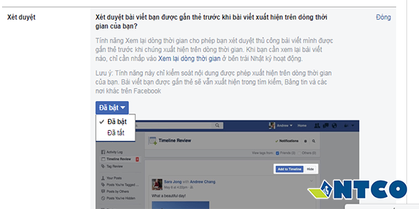 chan tag ten facebook