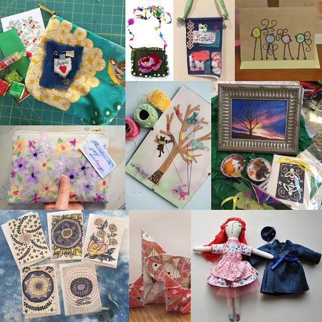 Handmade Joy Exchange, creative exchange, creative swap, crafts, art, My Giant Strawberry, Anne Butera