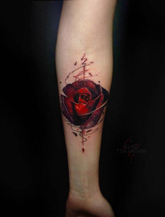 Tatuajes en el Antebrazo de Rosas
