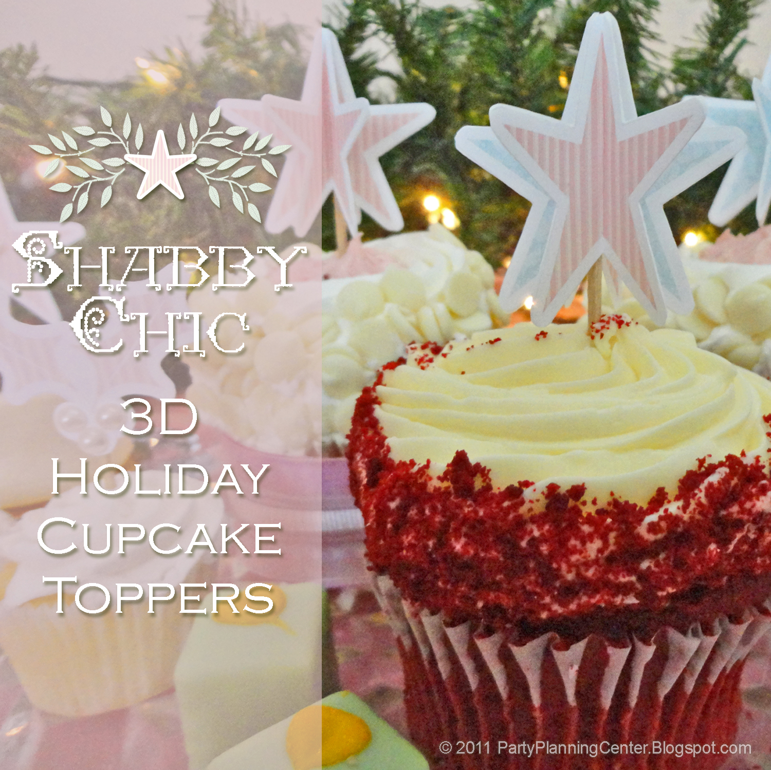 These Paper Holiday Cake Or Cupcake Toppers Hors D Oeuvre Etizer Party Picks Come In A Variety Of Pastel Designs That Match My Printable