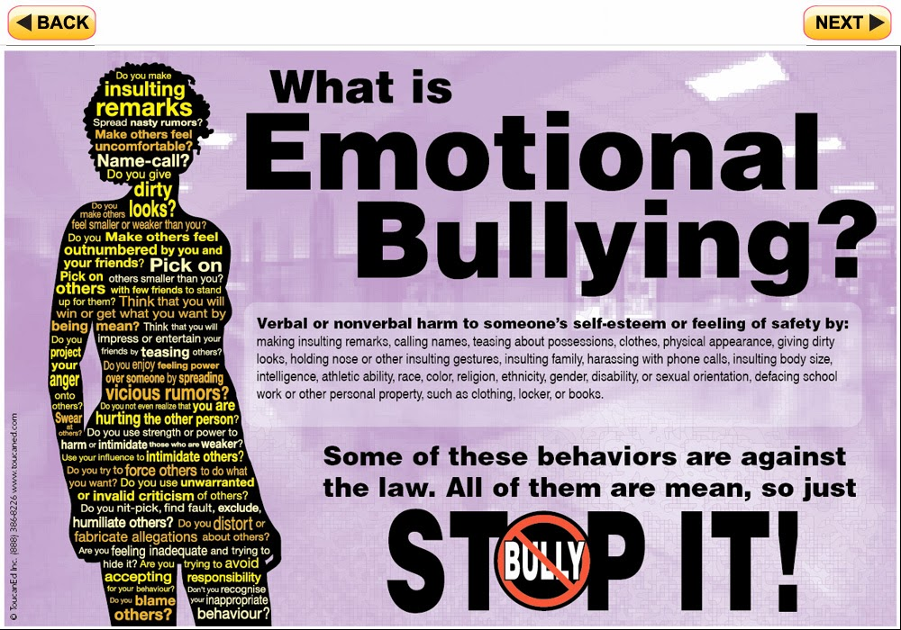 Emotions bullying and violent video games