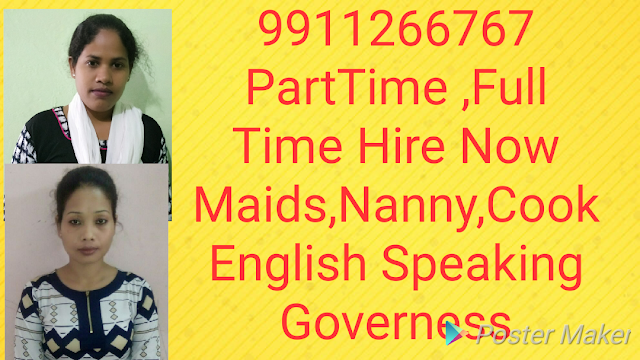 For expats and elite family we have available the best cook and Nanny 9911266767