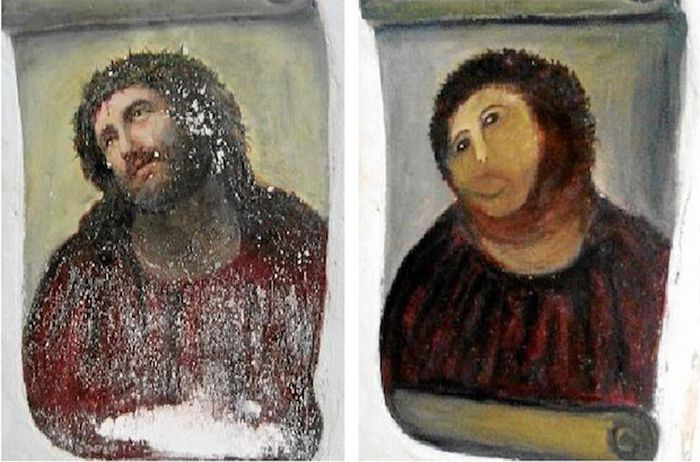 "Internet's Reaction To The Botched ""Ecce Homo"" Painting"