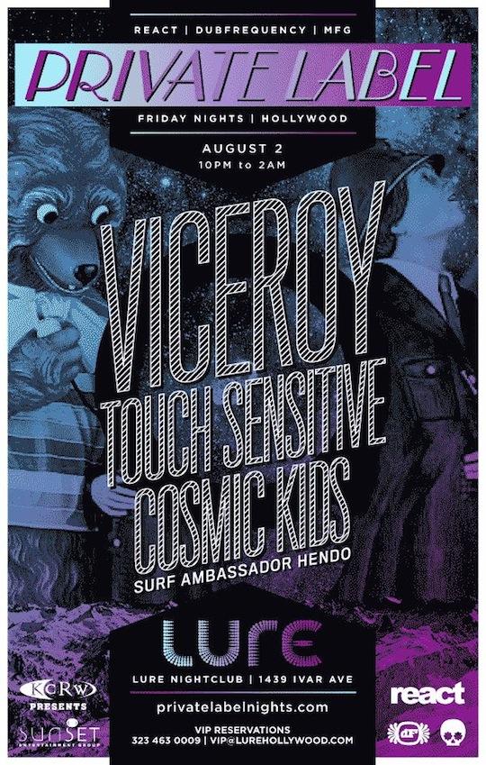 SURF AMBASSADOR HENDO: Aug 2nd - Viceroy + Touch Sensitive + Cosmic