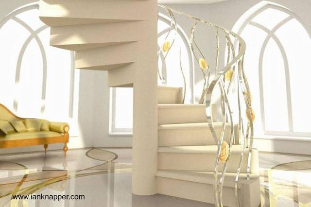 Proyecto de escalera caracol de lujo