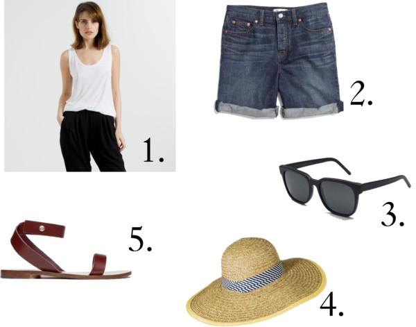 1. everlane, 2. madewell, 3. super people, 4. target, 5. everlane