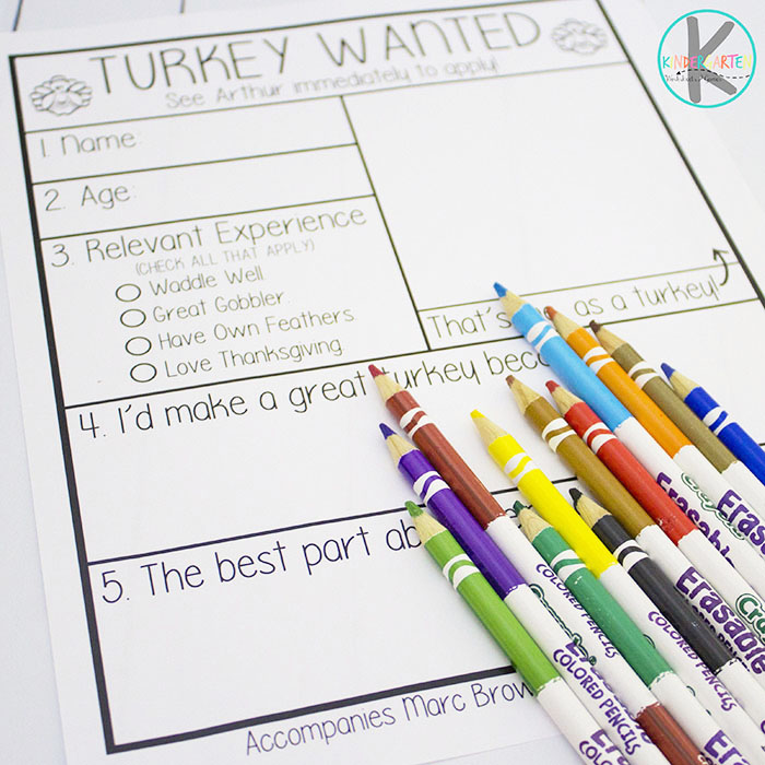 Kindergarten worksheets and games thanksgiving story writing prompt thanksgiving writing prompt ccuart Image collections