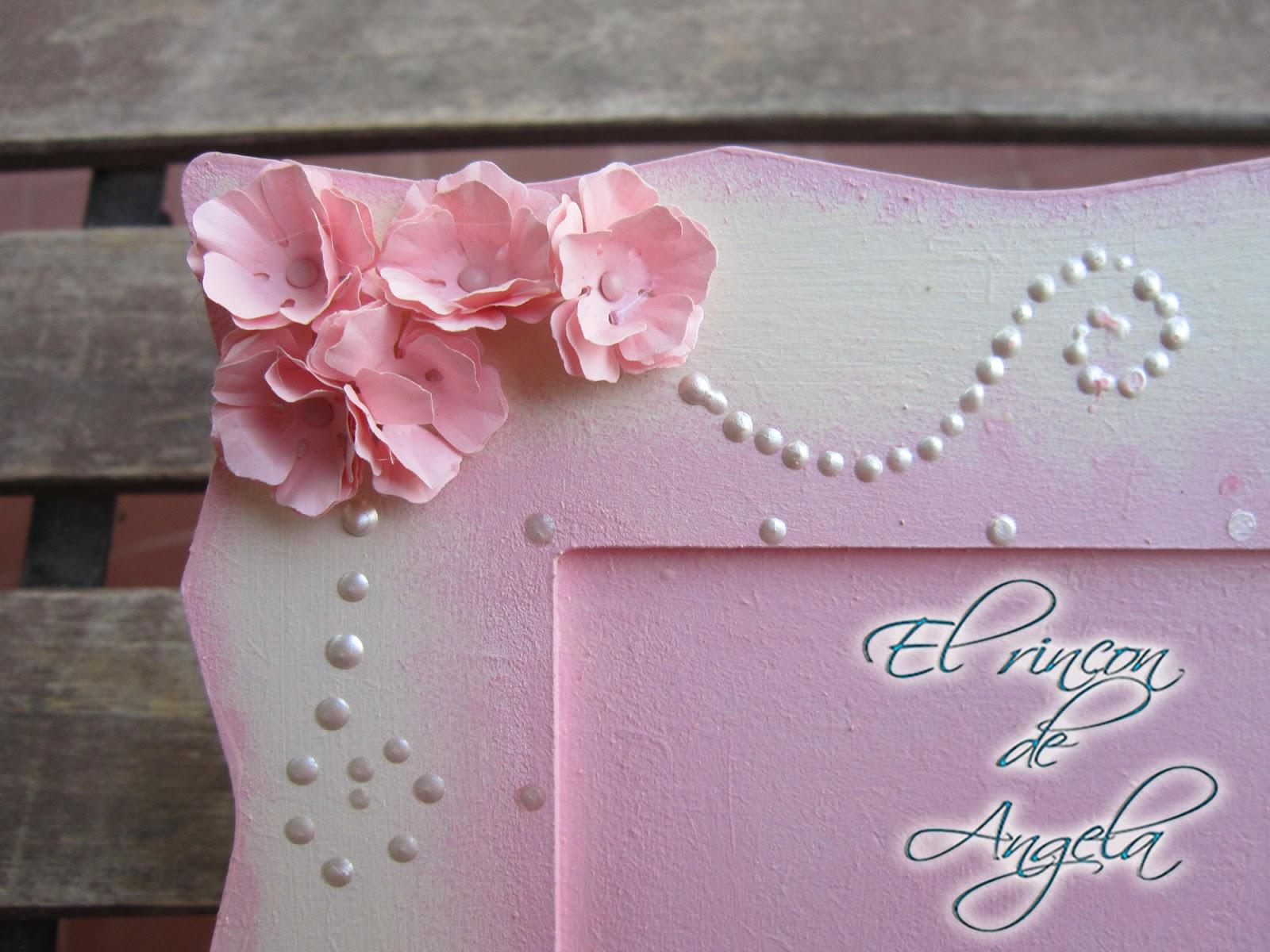 El Rincon de Angela: Decorar un marco de madera con flores de papel ...