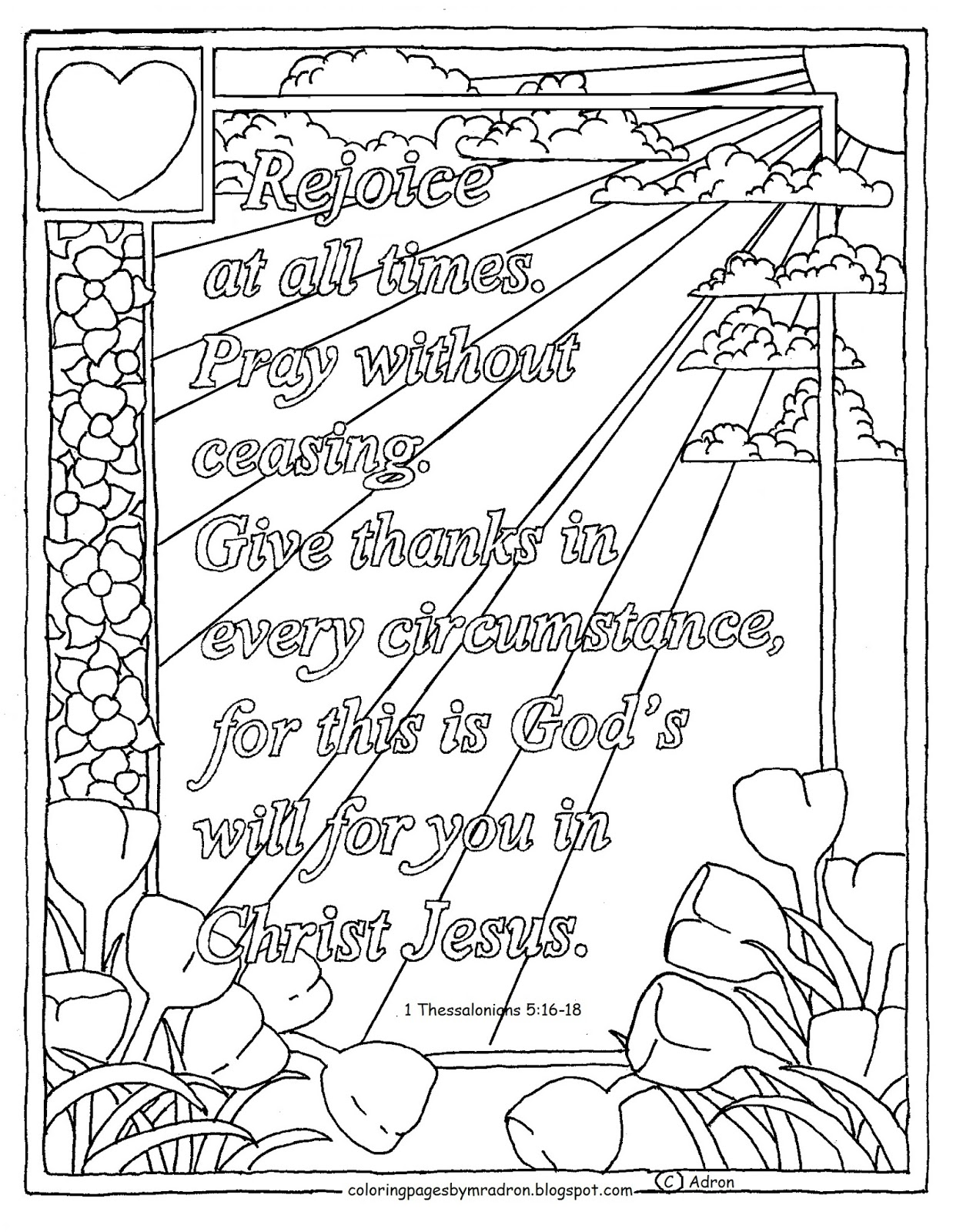 Coloring Pages For Kids By Mr Adron 1 Thessalonians 516