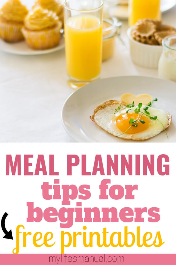 Meal Planning for beginners. Free weekly meal plan printables and Instant Pot recipes