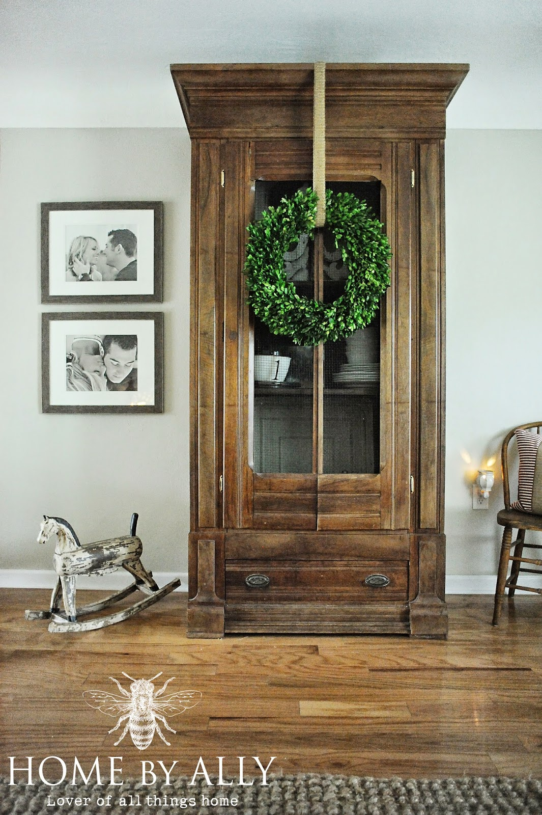Beautiful large antique wood cupboard on Home by Ally  ||  Friday Favorites at www.andersonandgrant.com