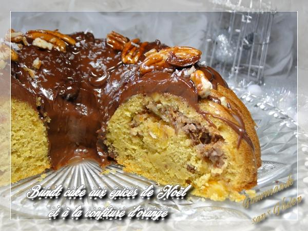 Bundt cake aux épices de Noël et à la confiture d'orange